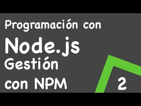 Gestión de paquetes con npm y package.json Tutoriales Node.js
