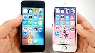 iPhone SE iOS 10.3.3 vs iPhone SE iOS 11 Goldmaster!