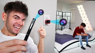 Using HIDDEN SPY CAMERAS To Spy On My Brother (Funny)