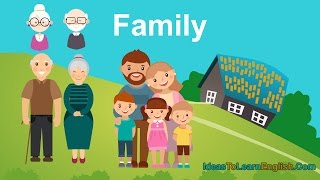 Essential English Words - English vocabulary - Family Members