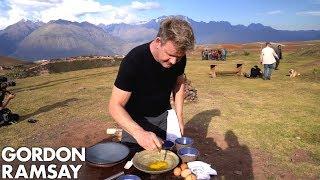 Gordon Ramsay Makes Alpaca Scrambled Eggs in Peru   Scrambled