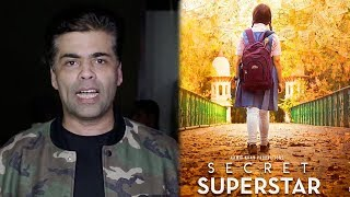 Karan Johar's Reaction On Aamir Khan's Secret Superstar Movie