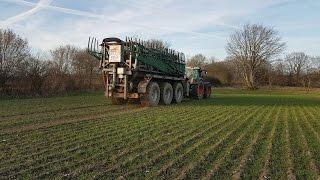 Güllefahren | Fendt 930 mit Briri Güllefass + MF 8700 mit Güllefass | Landwirtschaft SH