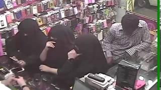 سرقة حقيبة بنت في محل جوالات