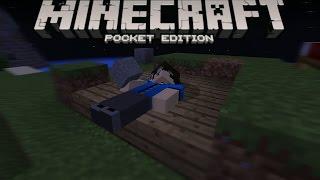 CARA TIDUR TANPA KASUR!! - Minecraft PE (Pocket Edition) Indonesia