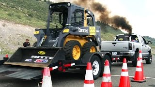 Trailer Tow Obstacle Course - Day 2 of Diesel Power Challenge 2014!