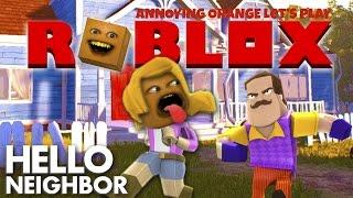 Annoying Orange Plays - ROBLOX: Hello Neighbor (Blocky Butt Toucher!)