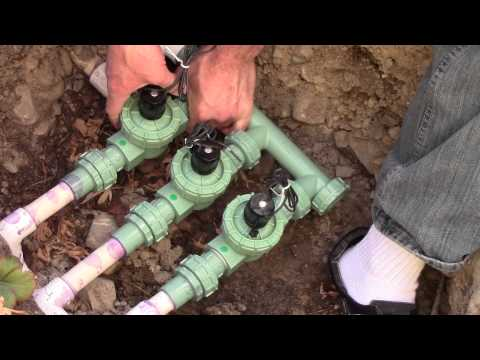 How to install Orbit Automatic Sprinkler Valve System Grass Lawn
