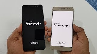 Samsung Galaxy A8+ (2018) vs Samsung J7 Pro Speed Test Comparison !