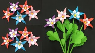 How to Make Lovely Paper Flower | Making Paper Flowers Step by Step | DIY-Paper Crafts