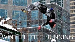 Winter Free Running - Ice Parkour - Ronnie Shalvis
