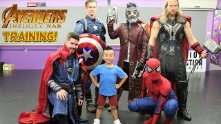 TRAINING With The Marvel Avengers Infinity War Superhero Fun With Ckn Toys