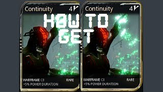 Warframe - How To Get The Continuity Mod
