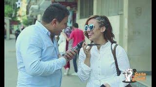 مذيع الشارع  كلم ابوك وقوله عديتي هتبقي ايه ؟
