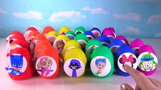 30 Play-Doh Toy Surprise Eggs - Nick & Disney Jr. - PJ Masks, Paw Patrol, Mickey Mouse Clubhouse