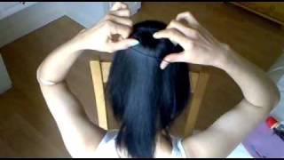 air-hostess hair style