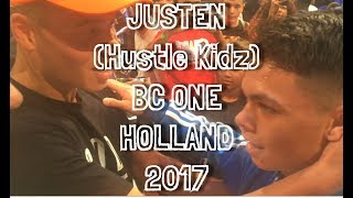 JUSTEN (Hustle Kidz) at RED BULL BC ONE HOLLAND CYPHER 2017
