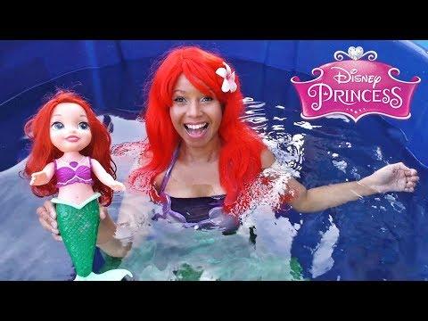 Disney Princess Ariel Toy Dunk Tank Challenge! || Disney Toy Review || Konas2002