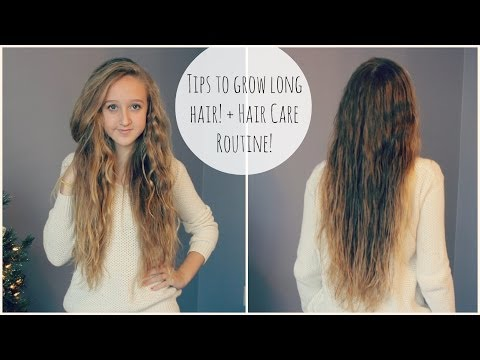 Tips for Growing LONG Hair! + Hair Routine!