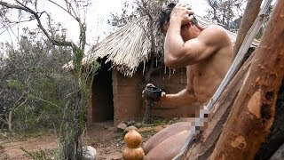 Primitive bathing with natural plant soap