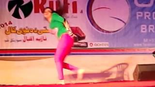 saher malik Dance in new year show 2014 in Sharjah