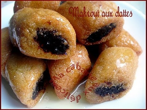 makrout aux dattes gateau oriental au miel Makrout with dates Oriental pastry with honey