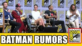 Justice League Respond To Reshoots & Batman Rumors - Comic Con 2017 Panel