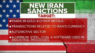 """Trump imposes """"most biting sanctions ever"""" on Iran"""