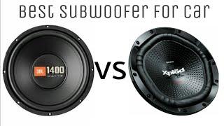 JBL 1400 WATTS vs SONY 1800 WATTS.best woofer for car