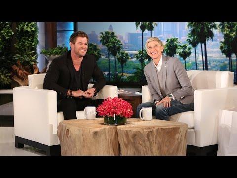 Ellen s Hot Guys Chris Hemsworth Speaks Some Strange Languages