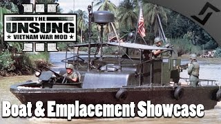 Boat & Emplacement Showcase - ARMA 3 - Unsung Vietnam Mod Gameplay