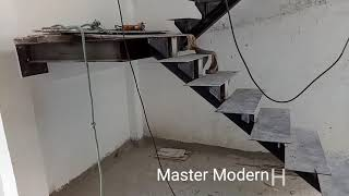 Master Modern Home fabrication ,heavy  steel  staircase