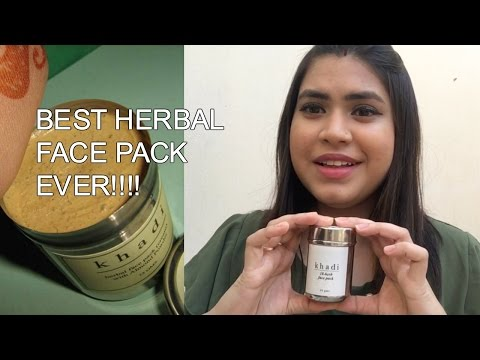 Best affordable Indian face pack for acne prone skin | Khadi 18 herb face pack review