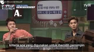 [INDO SUB] RM BTS DAN SUHO EXO DUSKUSI BEBAN MENJADI LEADER
