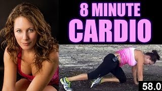 8 Minute Cardio Workout at Home, Exercise Routine & Fitness Training for Fat Burning