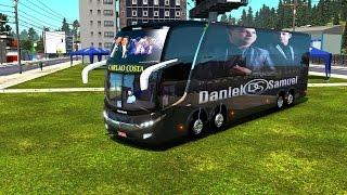 DANIEL E SAMUEL NO SEU BUS TOP SHOW
