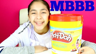 GIANT PLAY-DOH BUCKET SURPRISE #MBBB |B2cutecupcakes