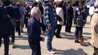 Japanese old man street  dance
