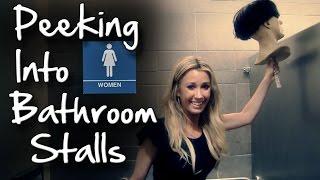Peeking Into Bathroom Stalls Prank! (GIRL'S VERSION)