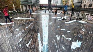 Illusion - 3D Street Art- Kurt wenner