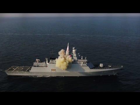 Türk Savaş Gemilerinden Güdümlü Mühimmat ve Top Atışları - TAM İSABET -