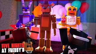 Minecraft: FIVE NIGHTS AT FREDDY'S #34 - FESTA NA PIZZARIA!?