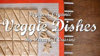 乳製品不使用の全粒粉クッキーとチョコレートソースのつくり方 : How to Make Vegan Cookie+ | Veggie Dishes by Peaceful Cuisine