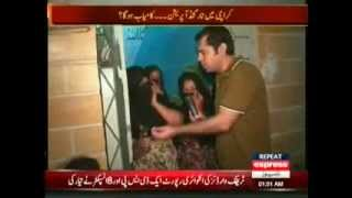 Kutchi People Of Lyari Take Arms To Defend Them.  (Express Takrar 31Augst2013)