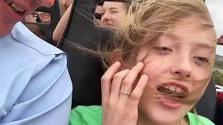 Girl passes out on roller coaster 8 times