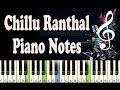 Chillu Ranthal Kali Piano Notes Music Sheet mp3