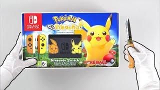 """Nintendo Switch """"PIKACHU EDITION"""" Console Unboxing (Pokémon Let's Go Eevee & Pikachu)"""