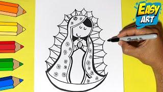 Como Dibujar la Virgen de Guadalupe - How to Draw a Virgin of Guadalupe