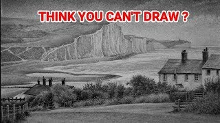 """This is Why """"YOU CAN'T DRAW."""" ... How To Draw Landscapes, Graphite Drawing Tutorials"""
