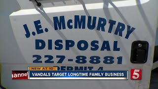 Vandals Target Trucks At Longtime Family-Owned Disposal Company